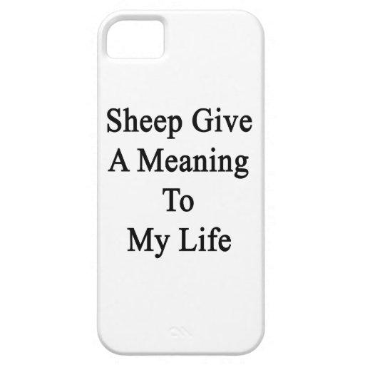 Las ovejas dan un significado a mi vida iPhone 5 carcasas