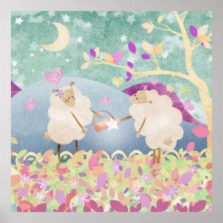 Las ovejas jewel para la oveja - impresión del pos póster