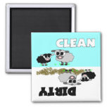 Las ovejas lindas limpian/imán sucio del lavaplato