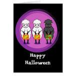 Las ovejas negras Halloween Tarjetón