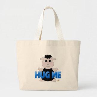 Las ovejas negras Huggable azules me abrazan Bolsa De Mano