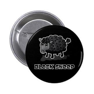 Las ovejas negras pin redondo de 2 pulgadas