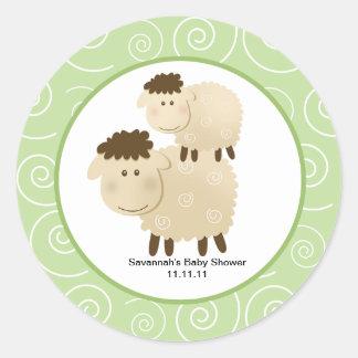 Las ovejas neutrales del Baa del Baa favorecen a p Pegatina Redonda