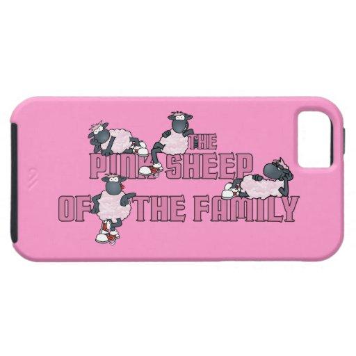 Las ovejas rosadas de la familia funda para iPhone SE/5/5s