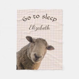 Las ovejas van al sueño personalizado manta polar
