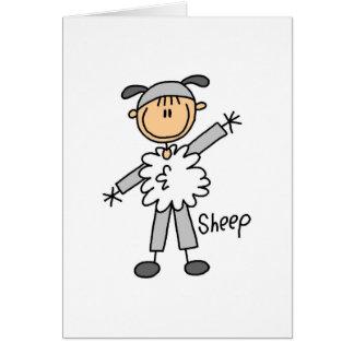 Las ovejas visten para arriba las camisetas y los  tarjeta de felicitación