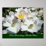 Las palabras buenas curan siempre los rosas de las poster