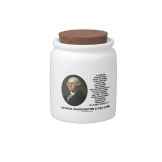 Las palabras de las acciones de George Washington Jarras Para Caramelos