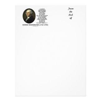 Las palabras de las acciones de George Washington Membretes Personalizados