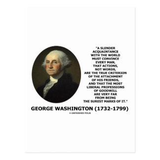 Las palabras de las acciones de George Washington  Postal
