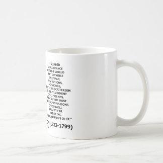 Las palabras de las acciones de George Washington Taza De Café