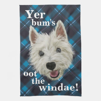 ¡Las palabras de Westie pequenito de la sabiduría! Toalla