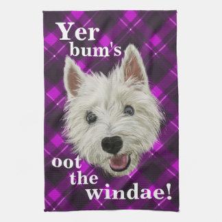 ¡Las palabras de Westie pequenito de la sabiduría! Toallas