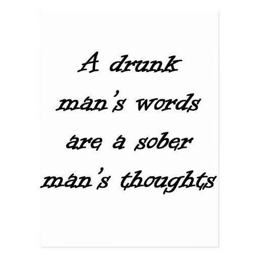Las palabras del hombre borracho postales