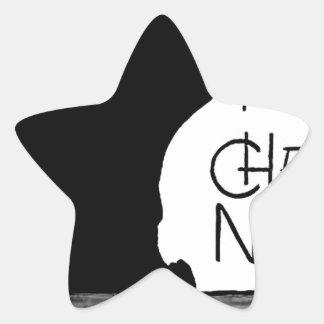 Las palabras francesas del gato negro de Halloween Colcomanias Forma De Estrellaes