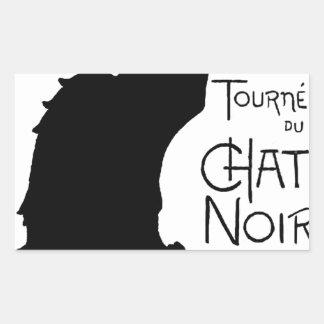 Las palabras francesas del gato negro de Halloween Rectangular Altavoces