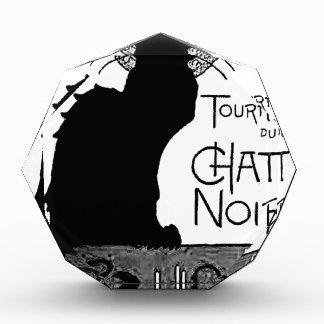 Las palabras francesas del gato negro de Halloween