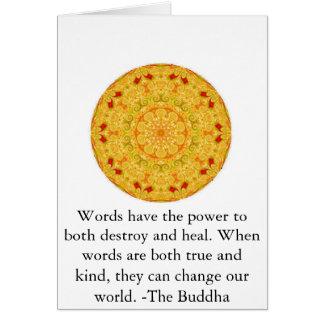 Las palabras hacen que el poder a ambos destruya . tarjeta de felicitación