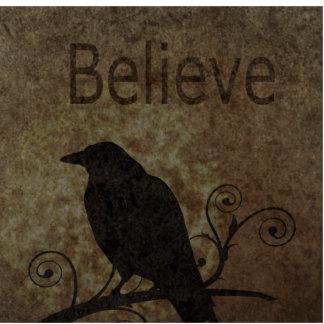 Las palabras inspiradas creen con el cuervo del vi escultura fotografica
