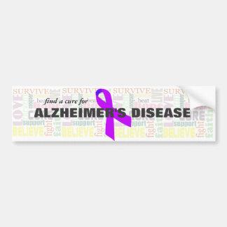 Las palabras inspiradas de Alzheimer Pegatina De Parachoque