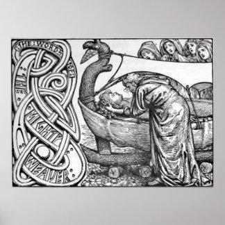 Las palabras pasadas de Odin a Baldr Poster