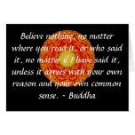 Las palabras sabias de la sabiduría del Buda citan Tarjetón