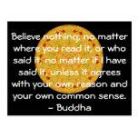 Las palabras sabias de la sabiduría del Buda citan Postales