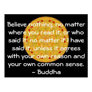 Las palabras sabias de la sabiduría del Buda citan Postal