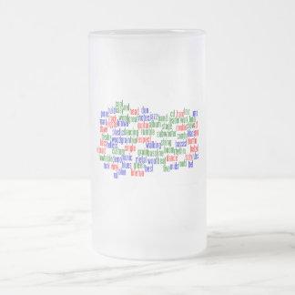 Las palabras se relacionaron con jugar el bajo, ve taza cristal mate