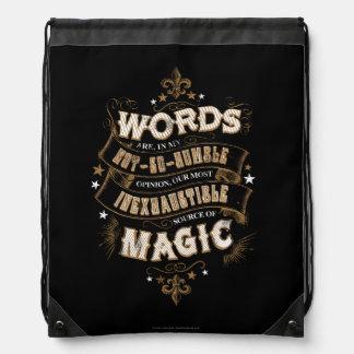 Las palabras son nuestra fuente más inagotable de mochila