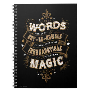 Las palabras son nuestra fuente más inagotable de spiral notebook