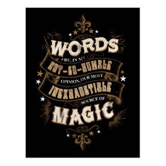 Las palabras son nuestra fuente más inagotable de tarjeta postal