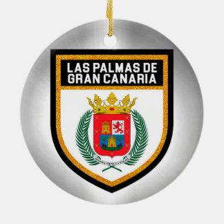 Las Palmas de Gran Canaria Flag Ceramic Ornament