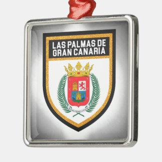 Las Palmas de Gran Canaria Flag Metal Ornament