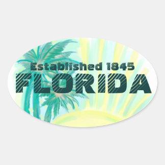 Las palmas soleadas de la Florida establecieron a Pegatina Ovalada
