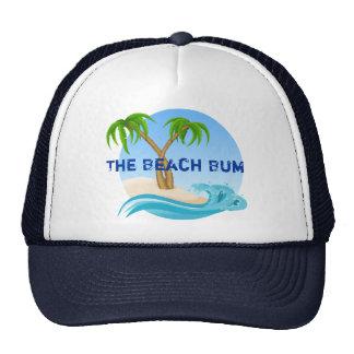 Las palmeras del vago de la playa tropicales gorras de camionero