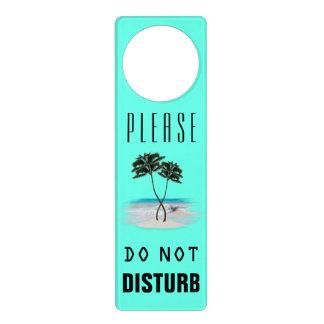 Las palmeras tropicales no perturban colgador para puerta