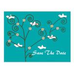 Las palomas ahorran la postal de la fecha