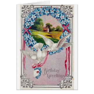 Las palomas del cumpleaños matasellaron 1910 tarjetas