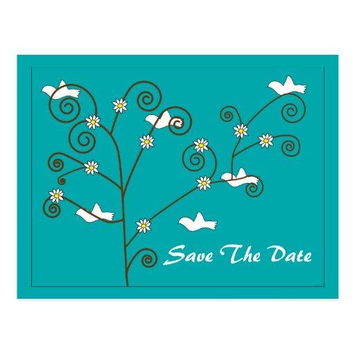 Las palomas en un árbol ahorran la postal de la fe