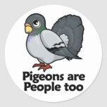 Las palomas son gente también etiqueta redonda