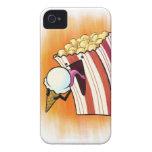 Las palomitas aman el helado iPhone 4 protectores