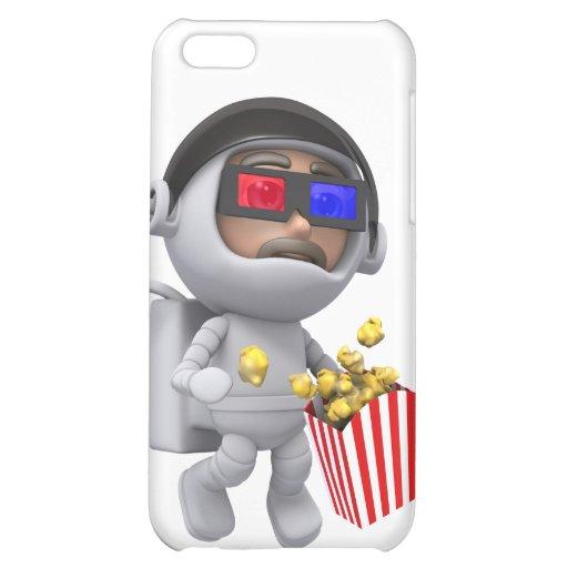 las palomitas del astronauta 3d flotan en espacio