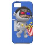 las palomitas del astronauta 3d flotan en espacio iPhone 5 Case-Mate cárcasa