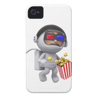 las palomitas del astronauta 3d flotan en espacio iPhone 4 Case-Mate coberturas