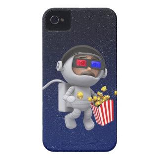 las palomitas del astronauta 3d flotan en espacio iPhone 4 Case-Mate fundas