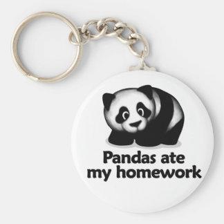 Las pandas comieron mi preparación llavero redondo tipo pin