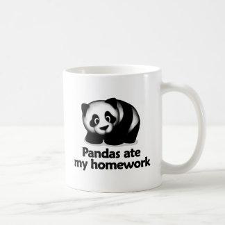 Las pandas comieron mi preparación taza de café