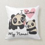 Las pandas I aman a mi Nana Cojin