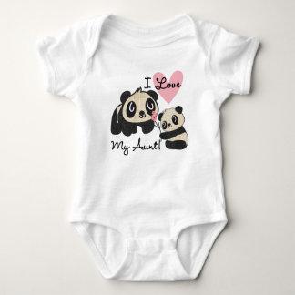 Las pandas I aman a mi tía Body Para Bebé